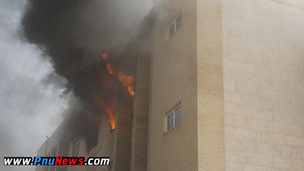 آتش سوزی دانشگاه پیام نور ریگان