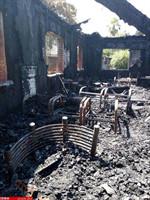 آتش سوزی دانشگاه مازندران