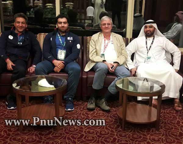 دیدار نصیرزاده با رییس کمیته فنی فیزو