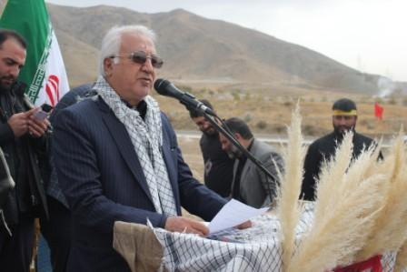علی اصغر رستمی ابوسعیدی در مراسم تشیع شهدا پیام نور کرج