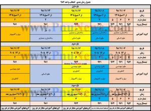 جدول زمان بندی انتخاب واحد دانشگاه فنی و حرفه ایجدول زمان بندی انتخاب واحد دانشگاه فنی و حرفه ای